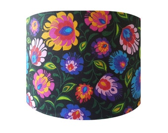 Handmade Bright Colourful Floral Lampshade