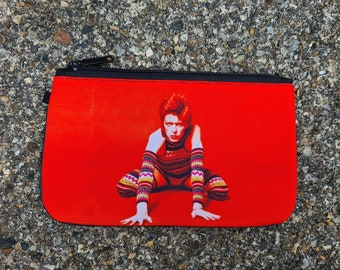 Red Ziggy Stardust Purse - David Bowie Bag Rock Lightning Bolt Ethical Phone Case