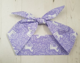 Purple Scandinavian Unicorn Head Scarf