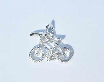 925 Genuine Silver Bicycle Charm - 92.5% Sterling Necklace Weddings Christening Bride Bridesmaid 21st 16 Birthday Gift Graduation Bike Motor