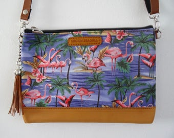 Tropical Blue Flamingo Handbag