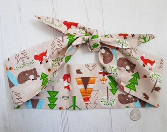 Bear & Fox Mountain Adventure Head Scarf - With or Without Wire