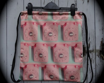 Pink Retro Telephone Backpack - Bag Gym Handbag Vintage Lady Gaga 1960s British Kitsch