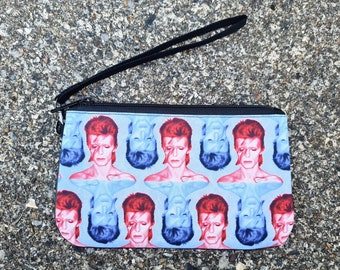 Red & Blue Bowie Purse - Aladdin Sane Bag Rock Lightning Bolt Ethical Phone Case