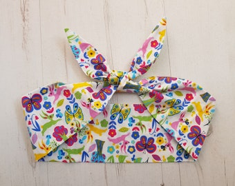 Scandinavian Rabbit and Butterfly Head Scarf - With or Without Wire