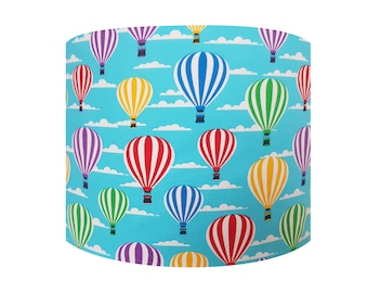 Blue Hot Air Balloon Lampshade - Sky Bedroom Ceiling Light