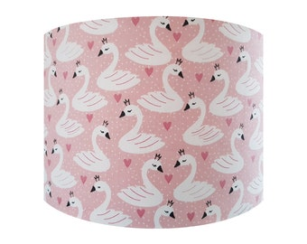 Handmade Pink Swan Lampshade