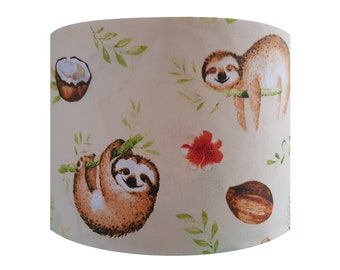 Sloth & Coconut Lampshade