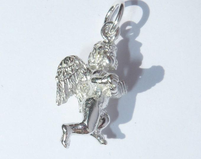 925 Genuine Silver Cherub Charm - 92.5% Sterling Necklace Weddings Christening Bride Bridesmaid New Born 21st Sweet 16 Birthday Gift love