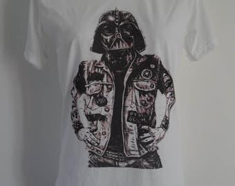 Women's Tattooed Darth Vader T-Shirt - UK 12 14 16 - Stormtrooper Tattoo Alternative