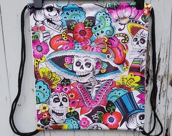 Mexican Skeleton Day of the Dead Backpack - Bag Gym Handbag Candy Skull