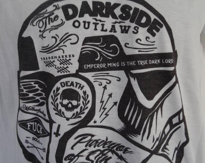 Women's Stormtrooper Graffiti T-Shirt - UK 12 14 16 - Tattoo Darth Vader Funny Alternative