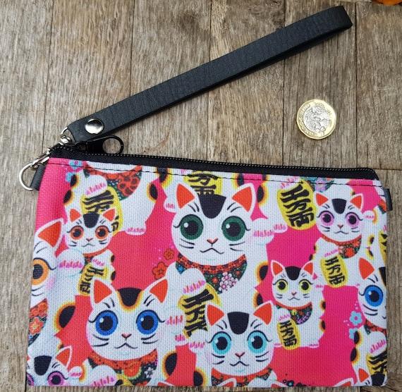 Red Japanese Sushi Cat Handbag Kawaii Kitten Bag Brown