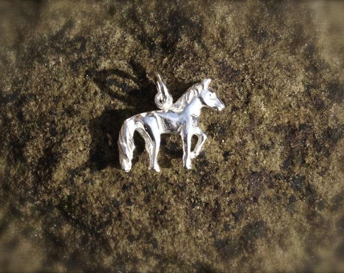 Genuine 925 Silver Horse Charm - Pendant Bracelet Necklace Sterling Pony Animal Wedding Christening Bride Bridesmaid Birthday Gift 16 18 21