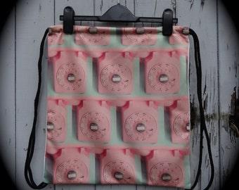 Pink Retro Telephone Backpack - Bag Gym Handbag Vintage Lady Gaga 1960s British Kitsch