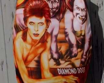 David Bowie Diamond Dogs Skirt - Size 8 10 12 14 16 - Mini Bodycon Retro Album Vinyl Labyrinth Ziggy Stardust Glam Rock