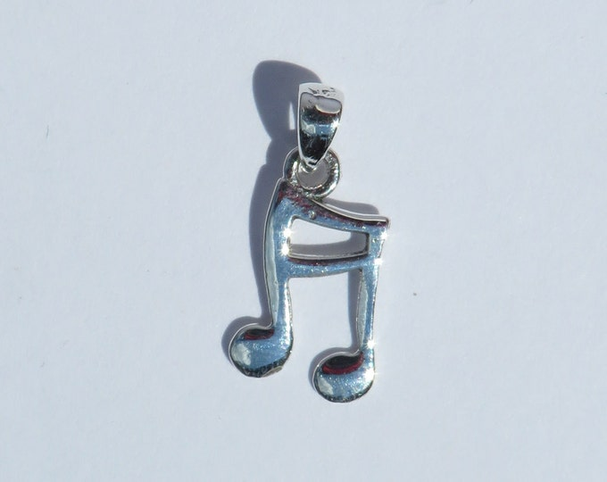 925 Genuine Silver Musical Note Charm - 92.5% Sterling Necklace Wedding Christening Bride Bridesmaid 21 16 Birthday Gift Band 18 Graduation