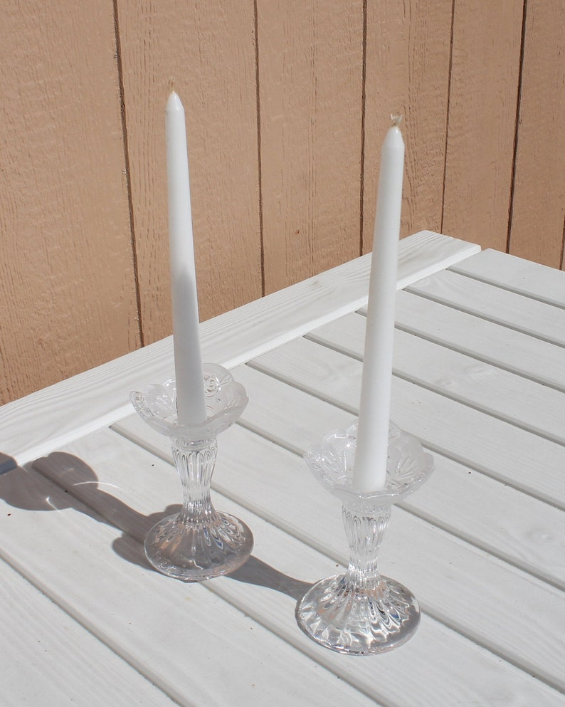Pair of Crystal Candlestick by Mikasa