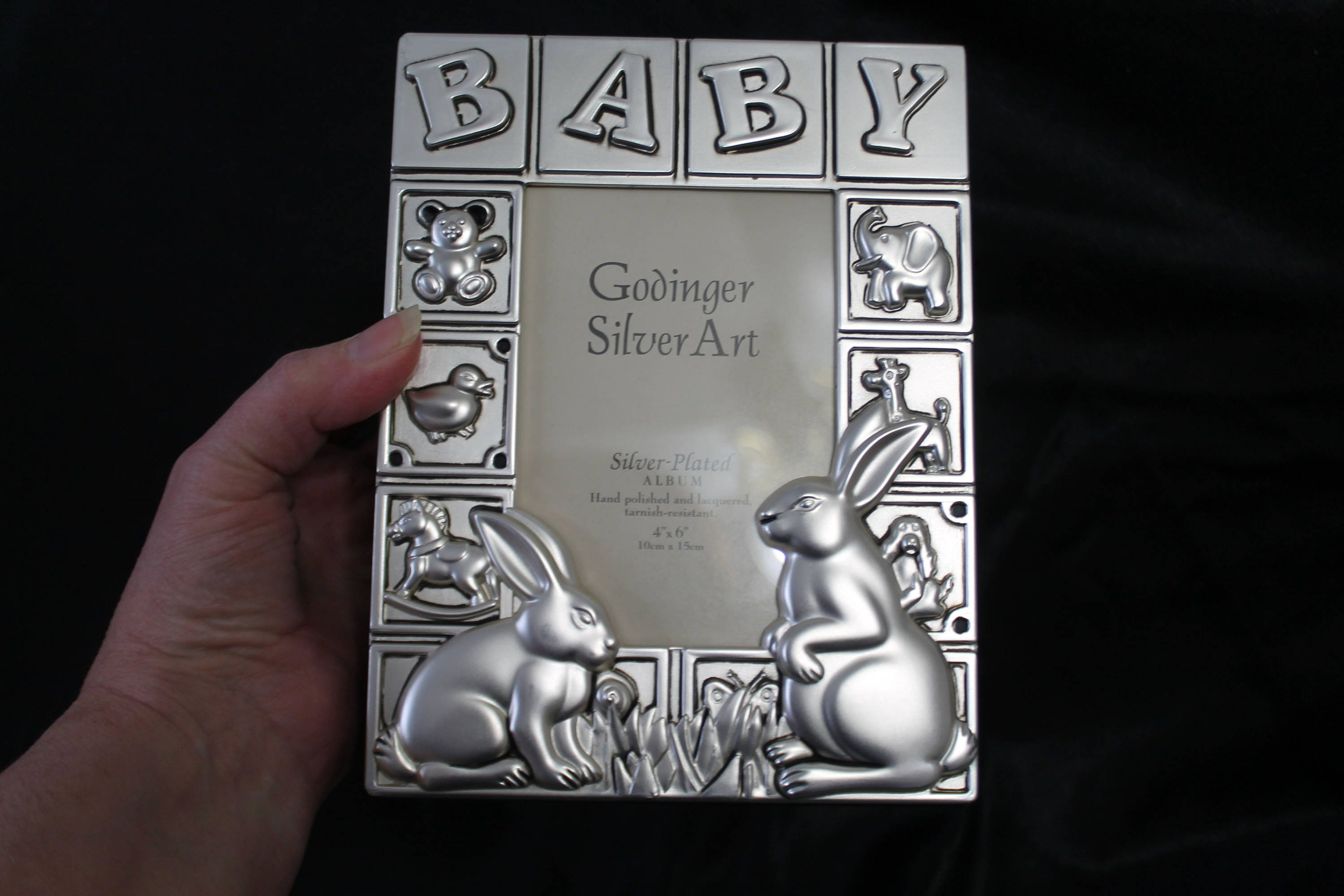 Silver Plated Satin Finish Baby Photo Album By Godinger Etsy