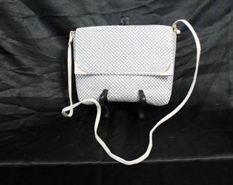 White Mesh Envelope Style Shoulder / Cross Body / Clutch Purse / Handbag