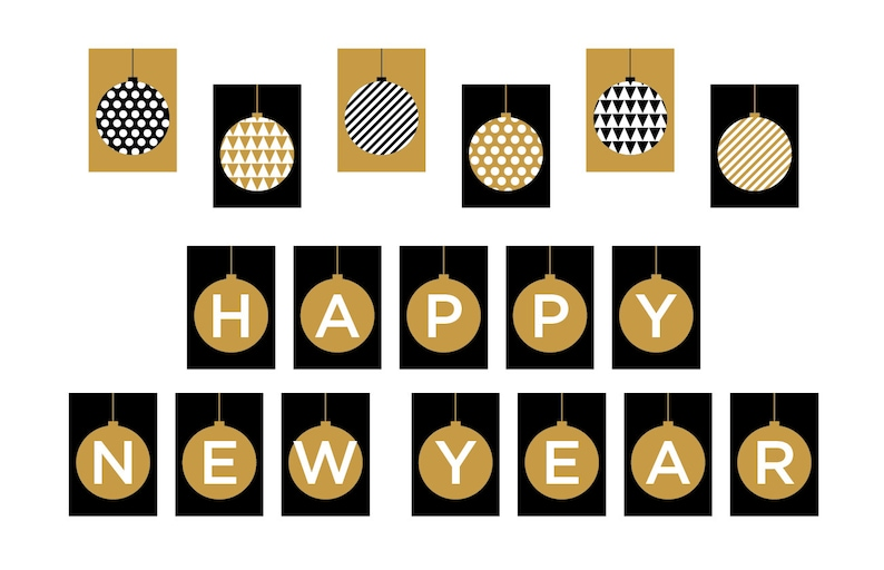 photograph regarding Happy New Years Banner Printable identify PRINTABLE Satisfied Fresh new 12 months Banner - Xmas Picture Prop - Trip Decorations - Glitter - Xmas Decor - Do it yourself, Print it On your own