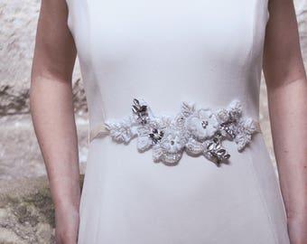 Bridal sash, bridal belt, wedding sash, wedding belt, lace sash, lace bridal sash, maternity sash