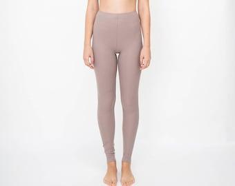 Leggings - womens leggings - yoga leggings - fashion leggings - tights - brown  - high waist leggings - women clothing