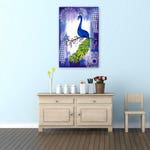 """peacock painting, peacock, on canvas, canvas painting, canvas paintings, canvas art, birds, art,purple painting, purple paintings, 36""""x24"""""""