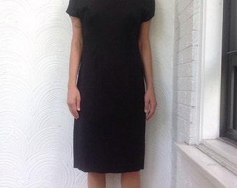 1980s Open Back Bow Dress