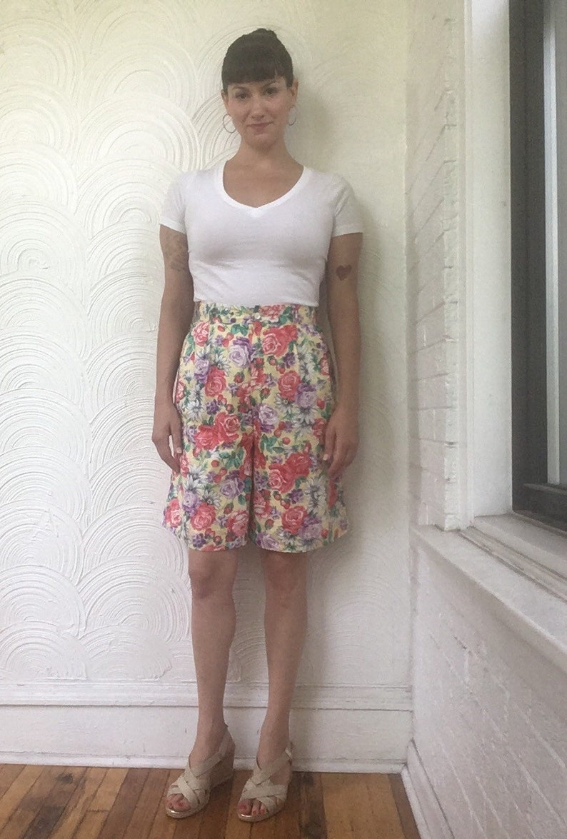 Ivan Grundahl Vintage Pink Gradient Women/'s Shorts culottes high rise Size M