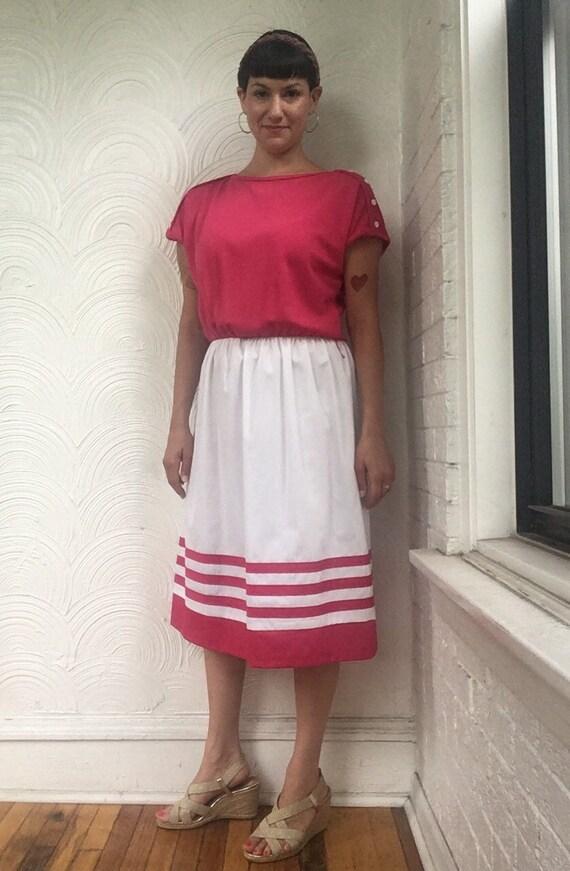 1970s Colorblock T-Shirt Dress - image 1