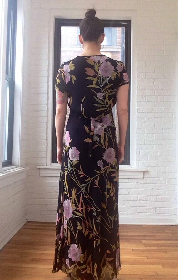 1990s Chiffon Floral Maxi Dress - image 2