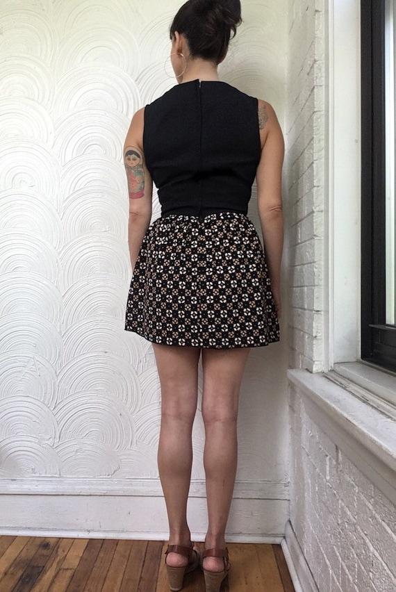 1970s Print Block Mini Dress - image 3