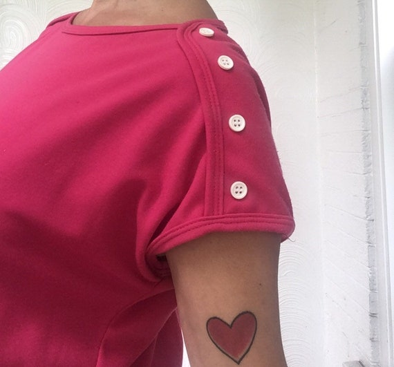 1970s Colorblock T-Shirt Dress - image 2
