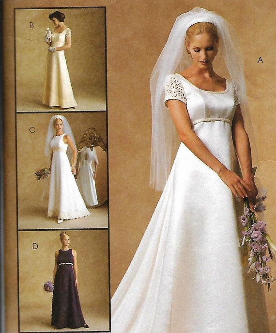 Wedding Gown Pattern McCalls 8635 Misses Size 4 6 8   Etsy
