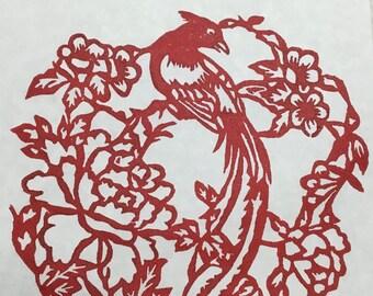 Asian Bird motif –print
