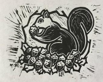 Nutty Squirrel – print