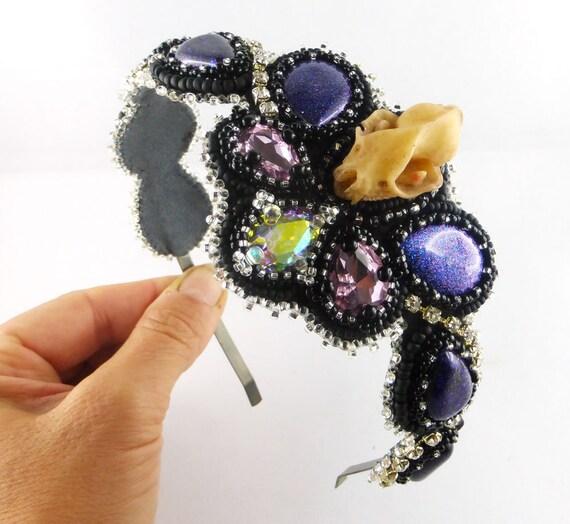 Haarreif mit Blumen verschiedene Modelle Haarschmuck Haarreifen Gothic Goth