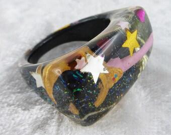 Ring, finger ring, finger jewelry, resin, sailor moon