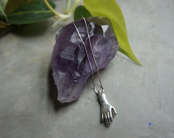 """Sterling Silver Hand Pendant: """"Patience"""""""