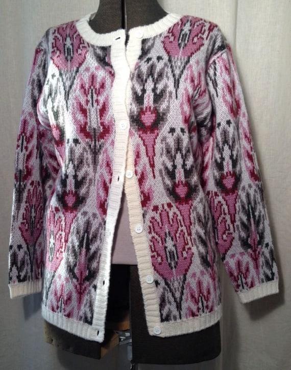 Vintage Lady Clansman Bermuda Wool Cardigan Sweate