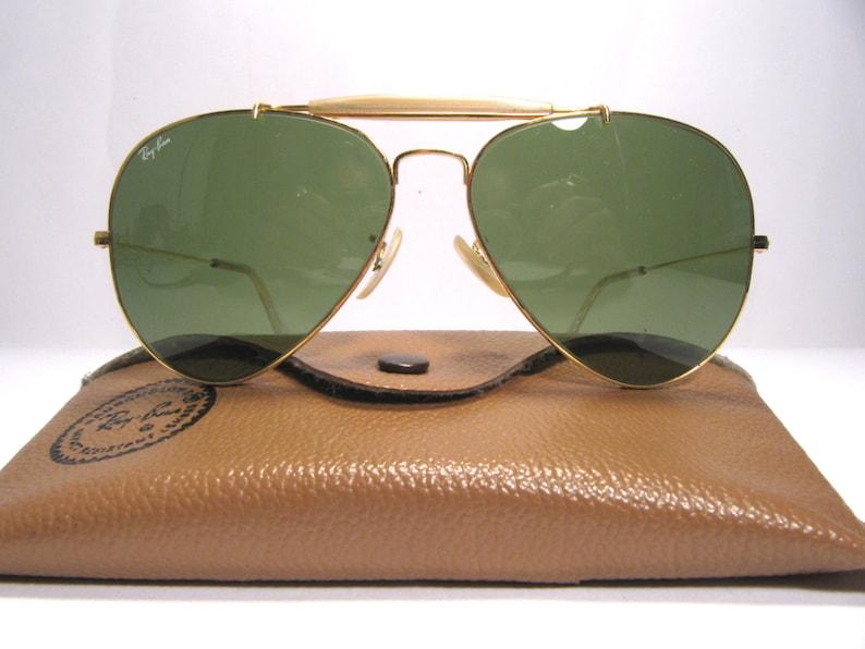 e69fcc993c Ray Ban B&L Outdoorsman gold metal vintage sunglasses U.S.A | Etsy