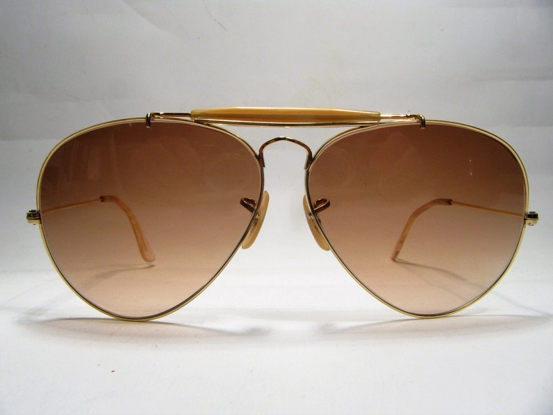 e5fbad98f5ee0 Ray Ban B L Outdoorsman gold metal vintage sunglasses U.S.A