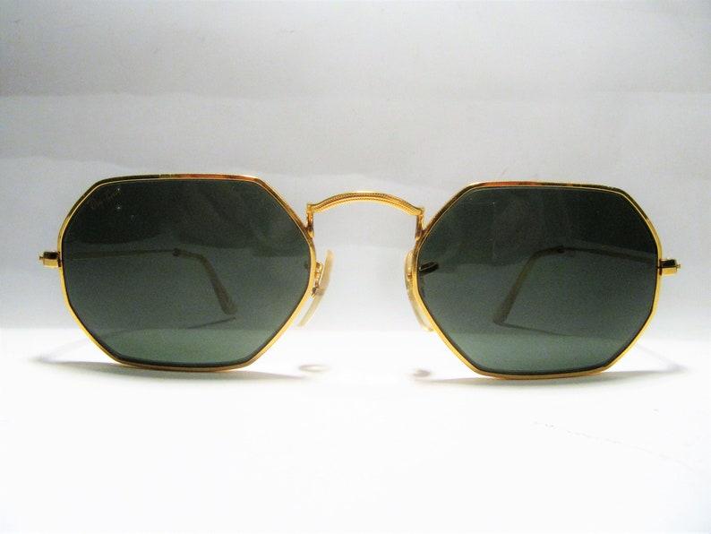 e3c2bdfc42 Ray Ban B L round metal octagonal vintage sunglasses U.S.A