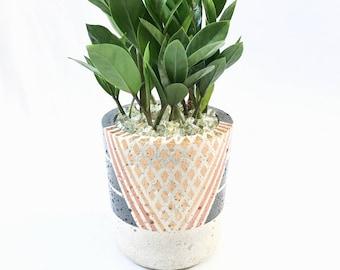 "Small Concrete ""Melissa"" Cylinder Pot"
