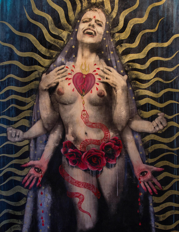 Orgasmos De Virgenes arte de la pared - impresión de arte - santo - virgen maría - sagrado corazón - orgasmo - feminismo