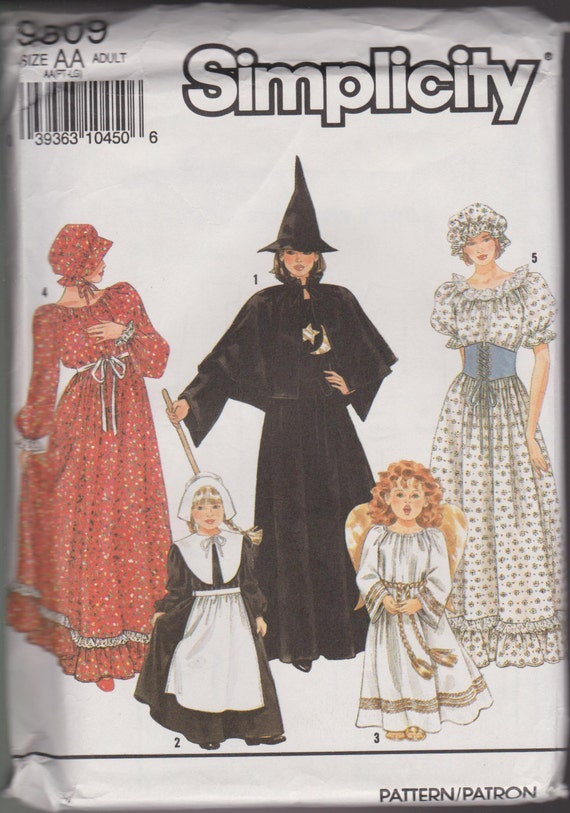 Simplicity 9809 Halloween Costume Sewing Pattern Witch Etsy