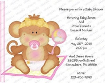 Personalized Printable Baby Shower Invitations (babygirl2038) (print your own)