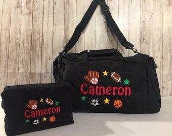 Duffle bag Personalized Sports Duffle Bag Personalized Kids Duffle Multi Sports  Duffle bag Sports Star Duffel Bag Boys sport duffel bag 1eef89d5a4ec6