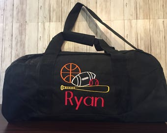 Duffle bag Personalized Sports Duffle Bag Personalized Kids Duffle Multi  Sports Duffle bag Boys Multi Sport Duffel bag 4e95f0e84a4e8
